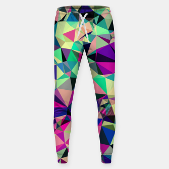 Thumbnail image of Purple Blue Fuchsia Geometric Polygons (LH001) Sweatpants, Live Heroes