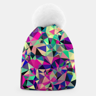Thumbnail image of Purple Blue Fuchsia Geometric Polygons (LH001) Beanie, Live Heroes