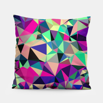 Thumbnail image of Purple Blue Fuchsia Geometric Polygons (LH001) Pillow, Live Heroes