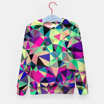 Thumbnail image of Purple Blue Fuchsia Geometric Polygons (LH001) Kid's sweater, Live Heroes