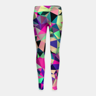 Miniaturka Purple Blue Fuchsia Geometric Polygons (LH001) Girl's leggings, Live Heroes