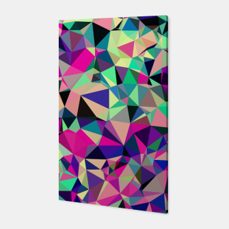 Thumbnail image of Purple Blue Fuchsia Geometric Polygons (LH001) Canvas, Live Heroes