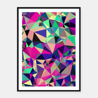 Thumbnail image of Purple Blue Fuchsia Geometric Polygons (LH001) Framed poster, Live Heroes