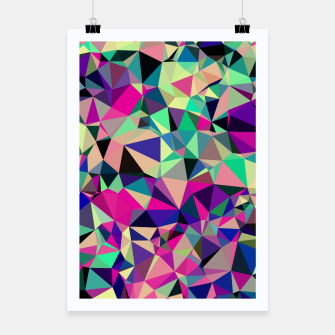 Thumbnail image of Purple Blue Fuchsia Geometric Polygons (LH001) Poster, Live Heroes