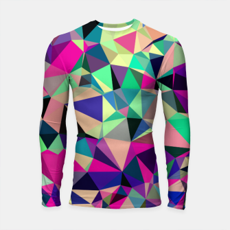 Purple Blue Fuchsia Geometric Polygons (LH001) Longsleeve rashguard  miniature