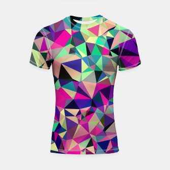 Thumbnail image of Purple Blue Fuchsia Geometric Polygons (LH001) Shortsleeve rashguard, Live Heroes