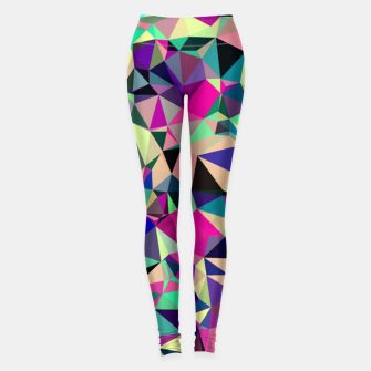 Thumbnail image of Purple Blue Fuchsia Geometric Polygons (LH001) Leggings, Live Heroes