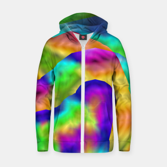 Miniatur Hurricane Rainbow Weather Map (LH020) Zip up hoodie, Live Heroes