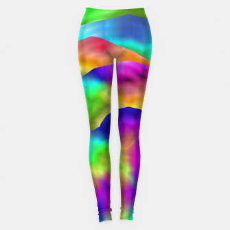 Miniatur Hurricane Rainbow Weather Map (LH020) Leggings, Live Heroes