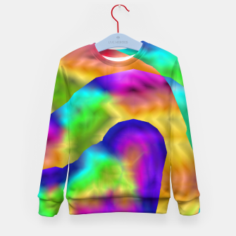 Thumbnail image of Hurricane Rainbow Weather Map (LH020) Kid's sweater, Live Heroes