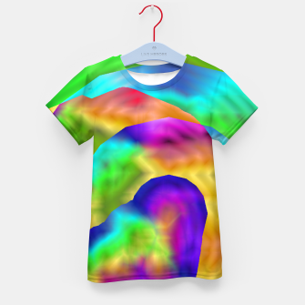 Imagen en miniatura de Hurricane Rainbow Weather Map (LH020) Kid's t-shirt, Live Heroes