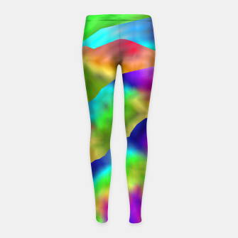 Miniaturka Hurricane Rainbow Weather Map (LH020) Girl's leggings, Live Heroes