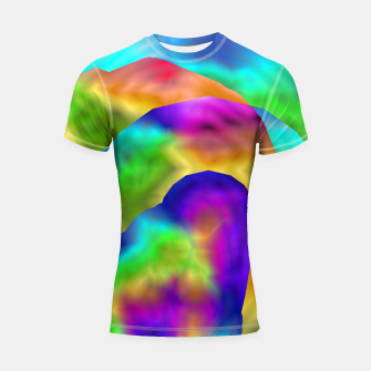 Thumbnail image of Hurricane Rainbow Weather Map (LH020) Shortsleeve rashguard, Live Heroes