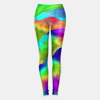 Thumbnail image of Hurricane Rainbow Weather Map (LH020) Leggings, Live Heroes