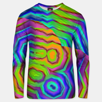 Miniatur Geometric Abstract Neon Gradients (LH018) Unisex sweater, Live Heroes