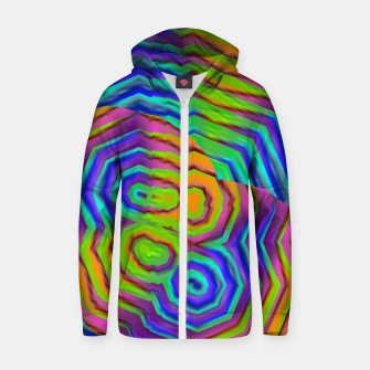 Miniatur Geometric Abstract Neon Gradients (LH018) Zip up hoodie, Live Heroes