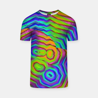 Miniatur Geometric Abstract Neon Gradients (LH018) T-shirt, Live Heroes
