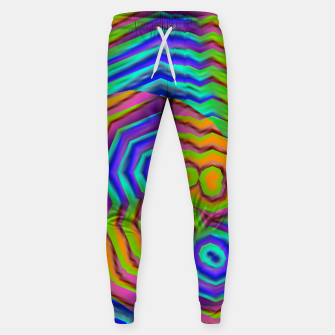 Miniatur Geometric Abstract Neon Gradients (LH018) Sweatpants, Live Heroes