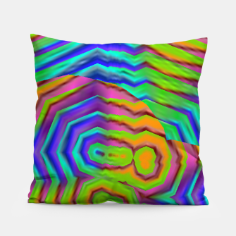 Miniatur Geometric Abstract Neon Gradients (LH018) Pillow, Live Heroes