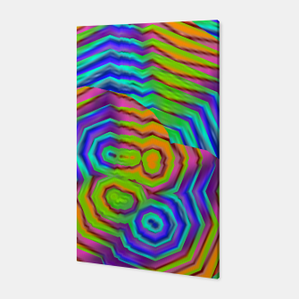 Miniatur Geometric Abstract Neon Gradients (LH018) Canvas, Live Heroes