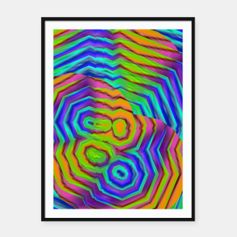 Miniatur Geometric Abstract Neon Gradients (LH018) Framed poster, Live Heroes