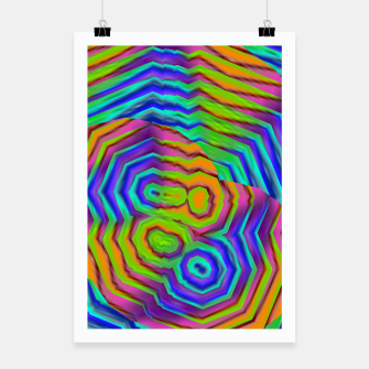 Miniatur Geometric Abstract Neon Gradients (LH018) Poster, Live Heroes