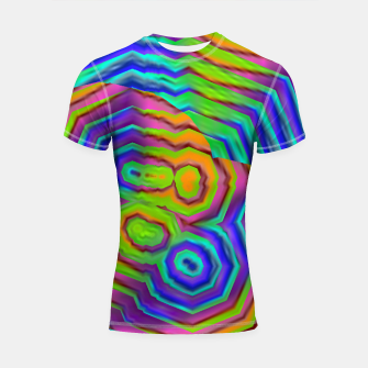 Miniatur Geometric Abstract Neon Gradients (LH018) Shortsleeve rashguard, Live Heroes