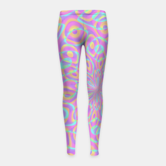 Miniaturka Pretty Pink Acid Trip (LH022) Girl's leggings, Live Heroes