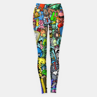 Miniatur color party Leggings, Live Heroes