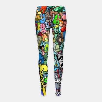 Imagen en miniatura de color party Leggings para niña, Live Heroes