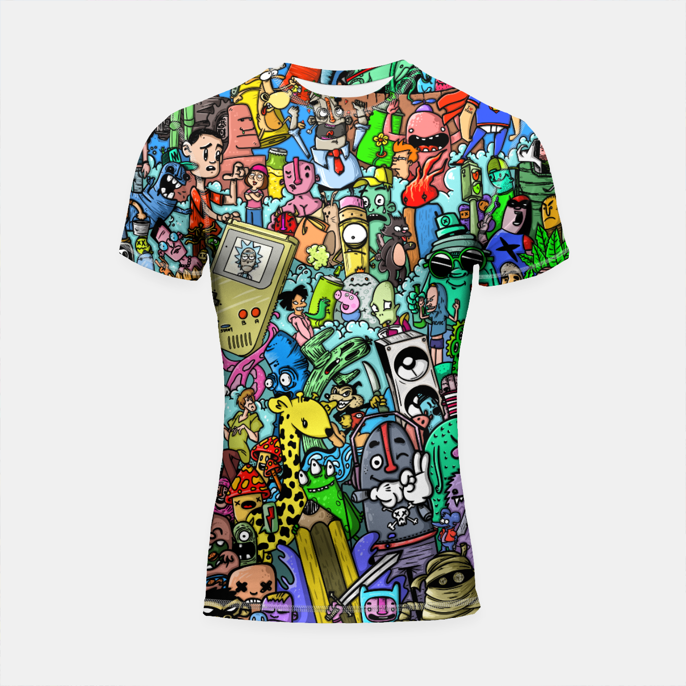 Imagen de color party Shortsleeve rashguard - Live Heroes