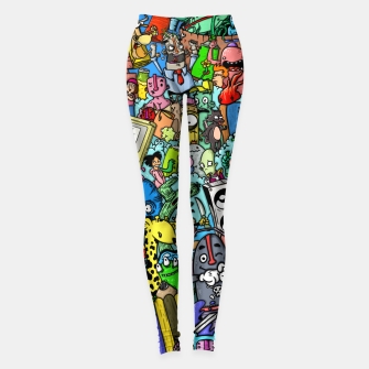 color party Leggings imagen en miniatura