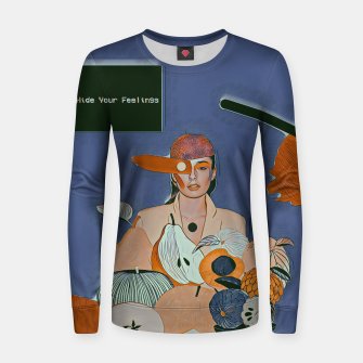 Thumbnail image of Don't hide your feelings Women sweater, Live Heroes