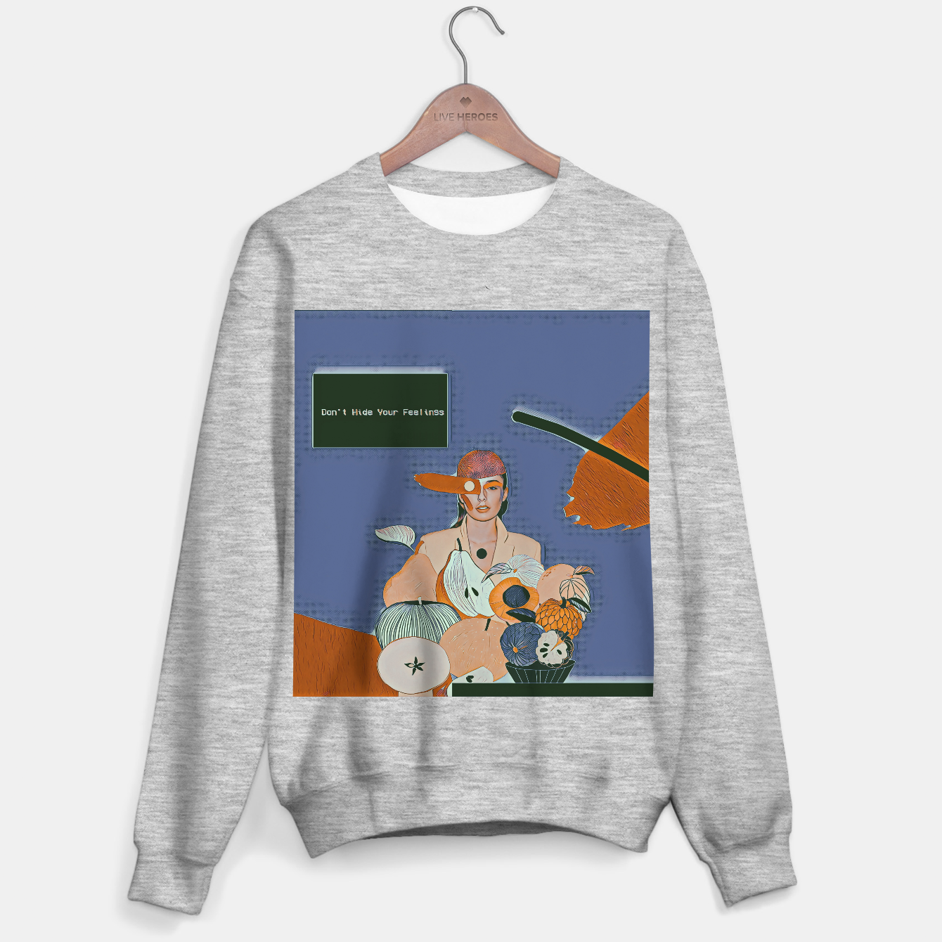 Image of Don't hide your feelings Sweater regular - Live Heroes