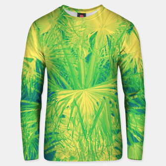 Thumbnail image of Neon green palm leaves Unisex sweatshirt, Live Heroes
