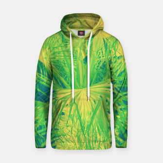 Thumbnail image of Neon green palm leaves Kapuzenpullover, Live Heroes