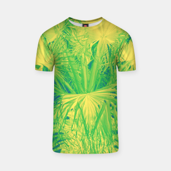 Thumbnail image of Neon green palm leaves T-Shirt, Live Heroes