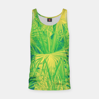 Thumbnail image of Neon green palm leaves Muskelshirt , Live Heroes