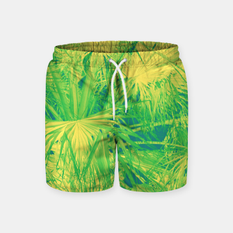 Thumbnail image of Neon green palm leaves Badeshorts, Live Heroes
