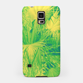 Thumbnail image of Neon green palm leaves Handyhülle für Samsung, Live Heroes