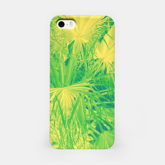 Thumbnail image of Neon green palm leaves iPhone-Hülle, Live Heroes