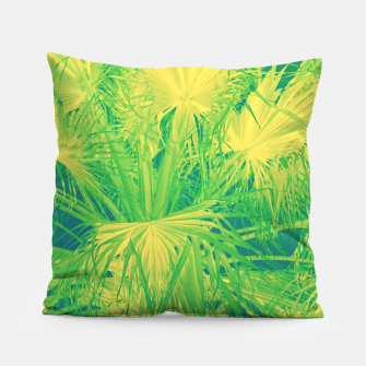 Thumbnail image of Neon green palm leaves Kissen, Live Heroes