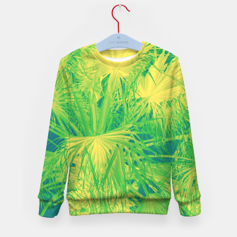 Thumbnail image of Neon green palm leaves Kindersweatshirt, Live Heroes