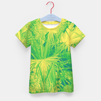 Thumbnail image of Neon green palm leaves T-Shirt für kinder, Live Heroes