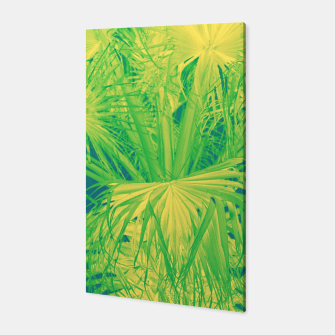 Thumbnail image of Neon green palm leaves Canvas, Live Heroes