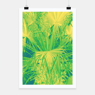 Thumbnail image of Neon green palm leaves Plakat, Live Heroes