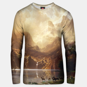 Thumbnail image of Among the Sierra Nevada, California by Albert Bierstadt Unisex sweater, Live Heroes