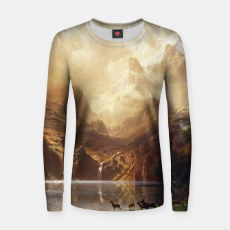 Thumbnail image of Among the Sierra Nevada, California by Albert Bierstadt Women sweater, Live Heroes