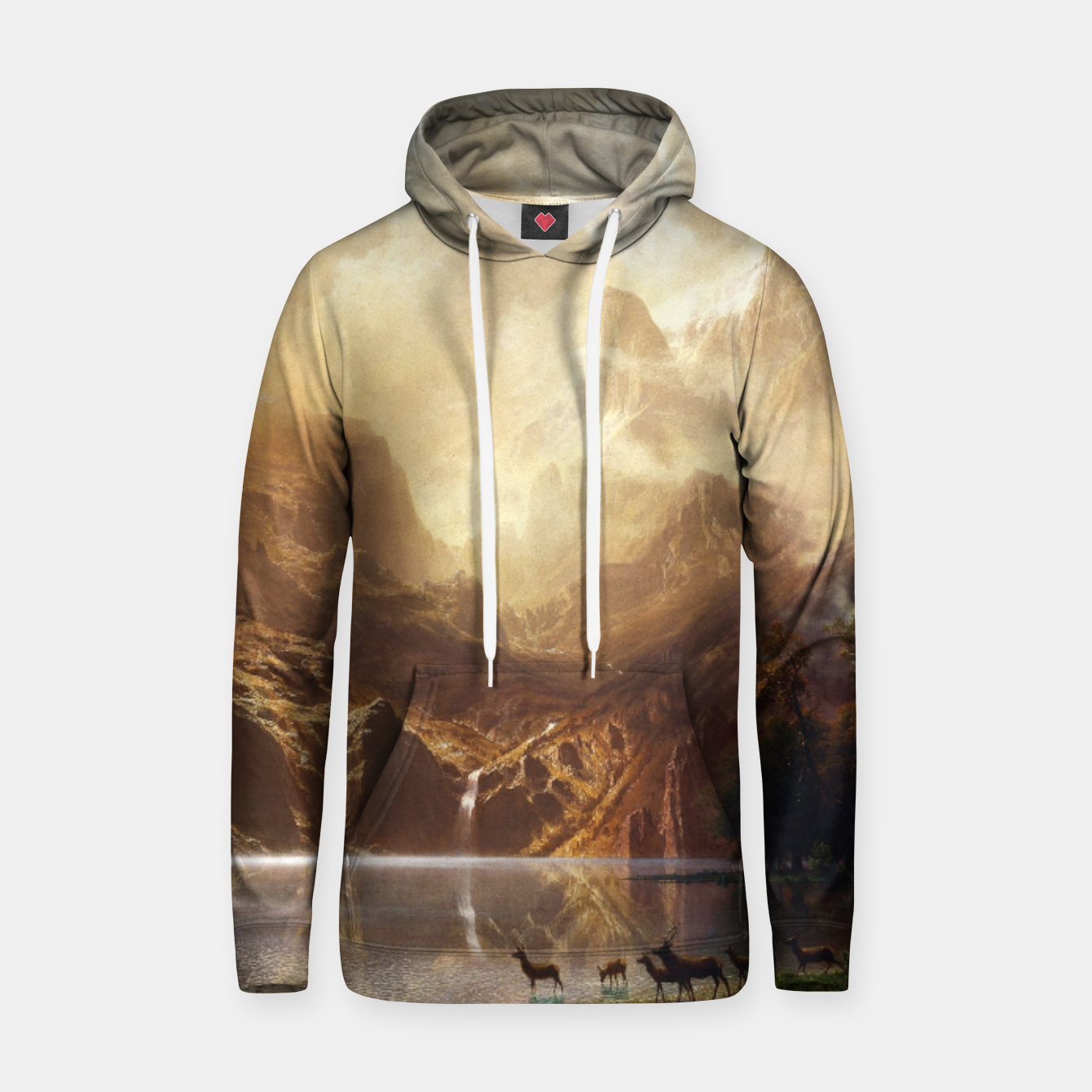 Image of Among the Sierra Nevada, California by Albert Bierstadt Hoodie - Live Heroes