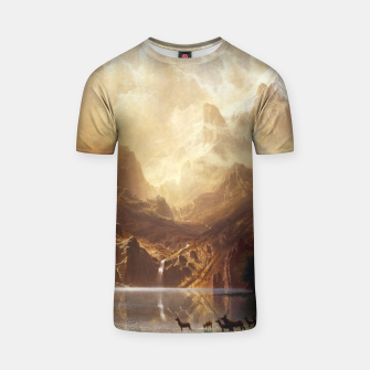 Among the Sierra Nevada, California by Albert Bierstadt T-shirt thumbnail image